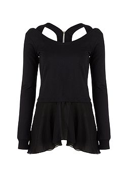 Mock Layer Ballet Sweater