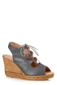 Cara London Gossip wedged espadrille