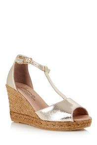 Cara London Gota wedged espadrille