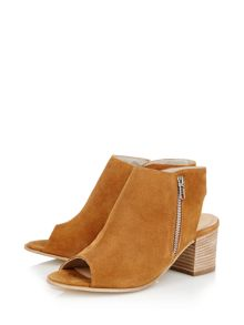 Cara Pharo peeptoe ankle boot
