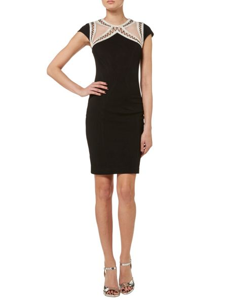 RAISHMA Black Bodycon Dress