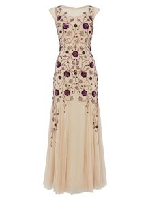 RAISHMA Gold and Plum Gown