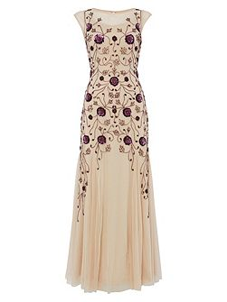 Gold and Plum Gown