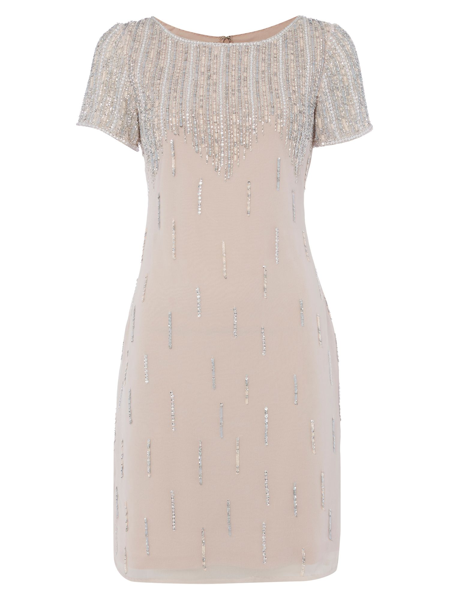 RAISHMA Zig-Zag Embellished Dress, Pastel Pink