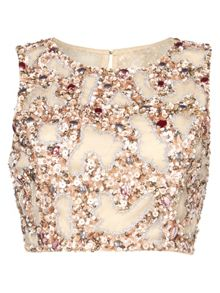 RAISHMA Blush Embroidered Crop Top