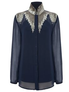 RAISHMA Embellished Detailed Shirt