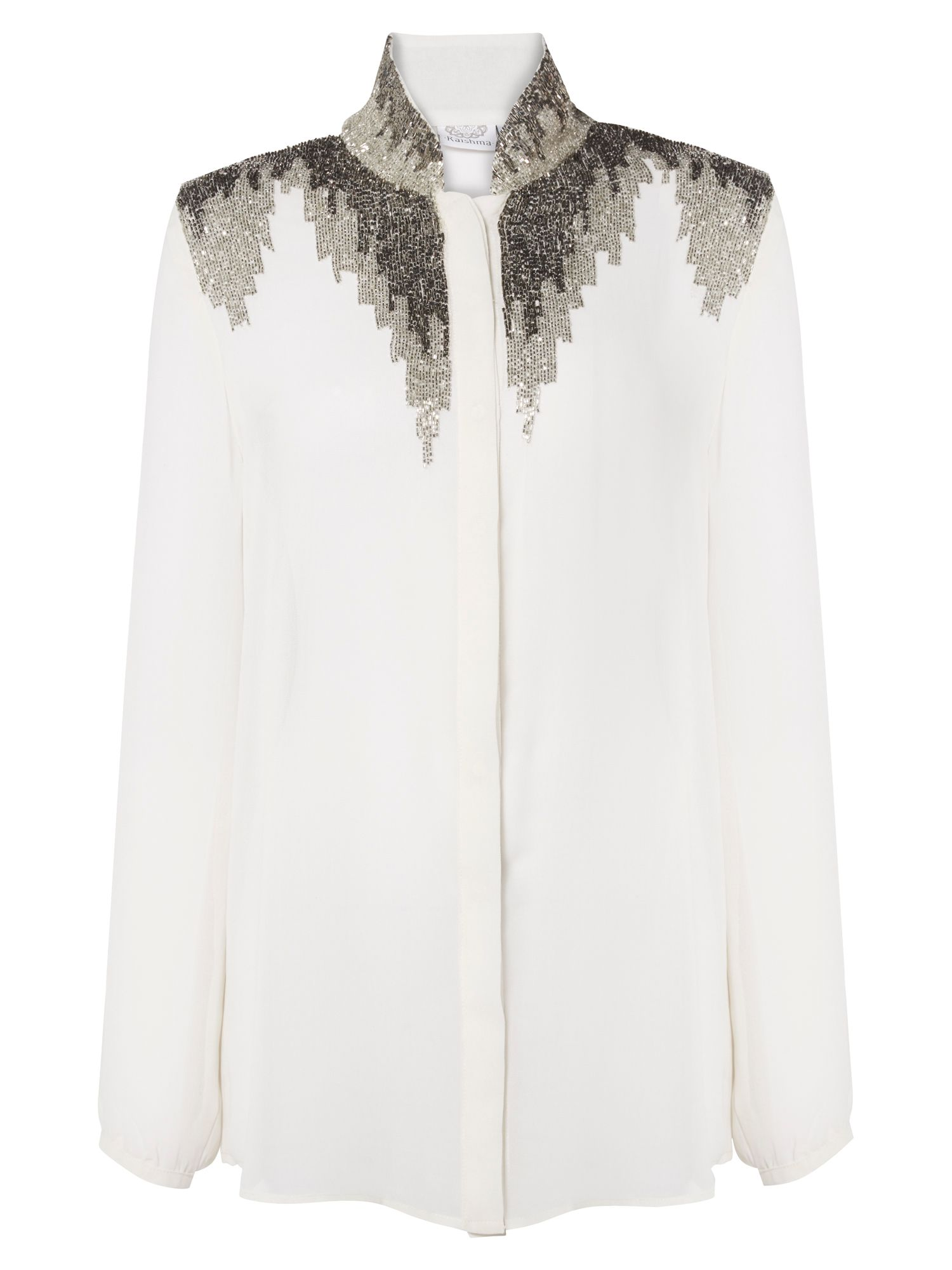RAISHMA Embellished Detailed Shirt, White