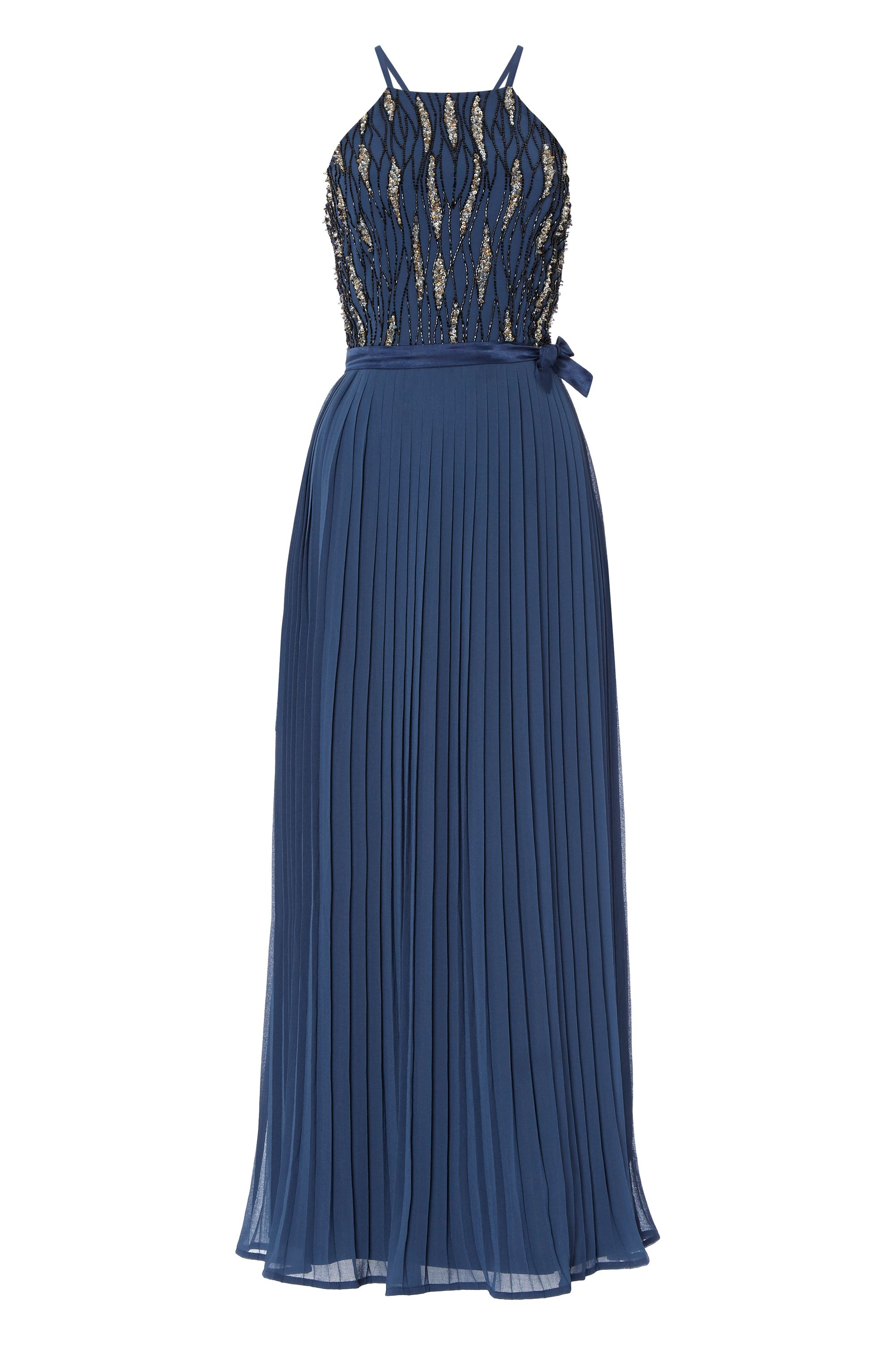 RAISHMA Pleated Midi Dress, Blue