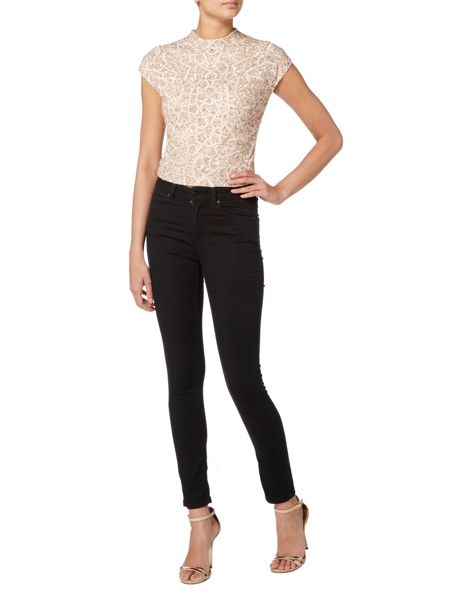 RAISHMA Geometric Embellished Crop Top