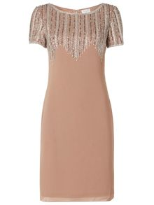 RAISHMA Zig-Zag Embellished Dress