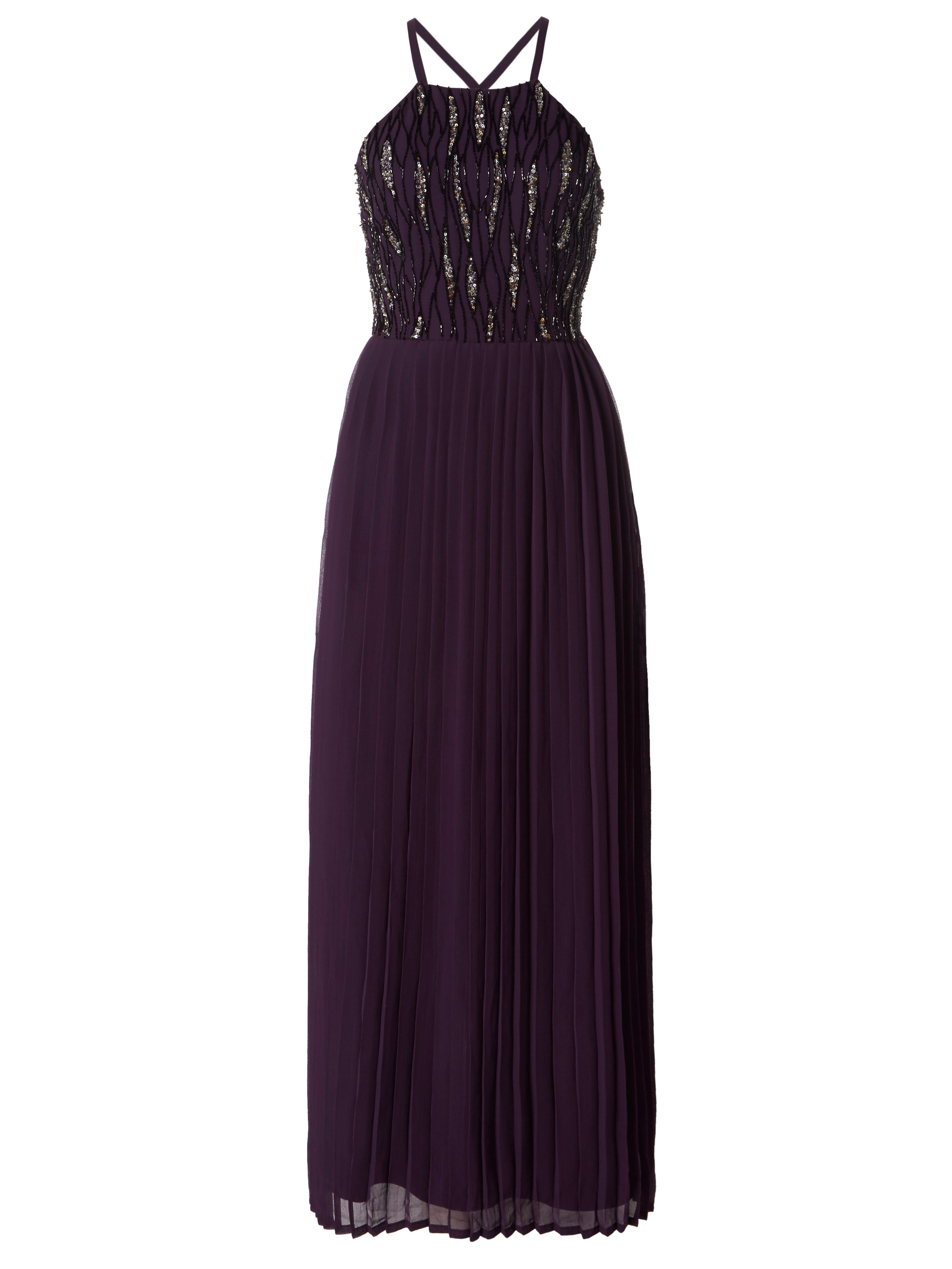 RAISHMA Pleated Midi Dress, Purple