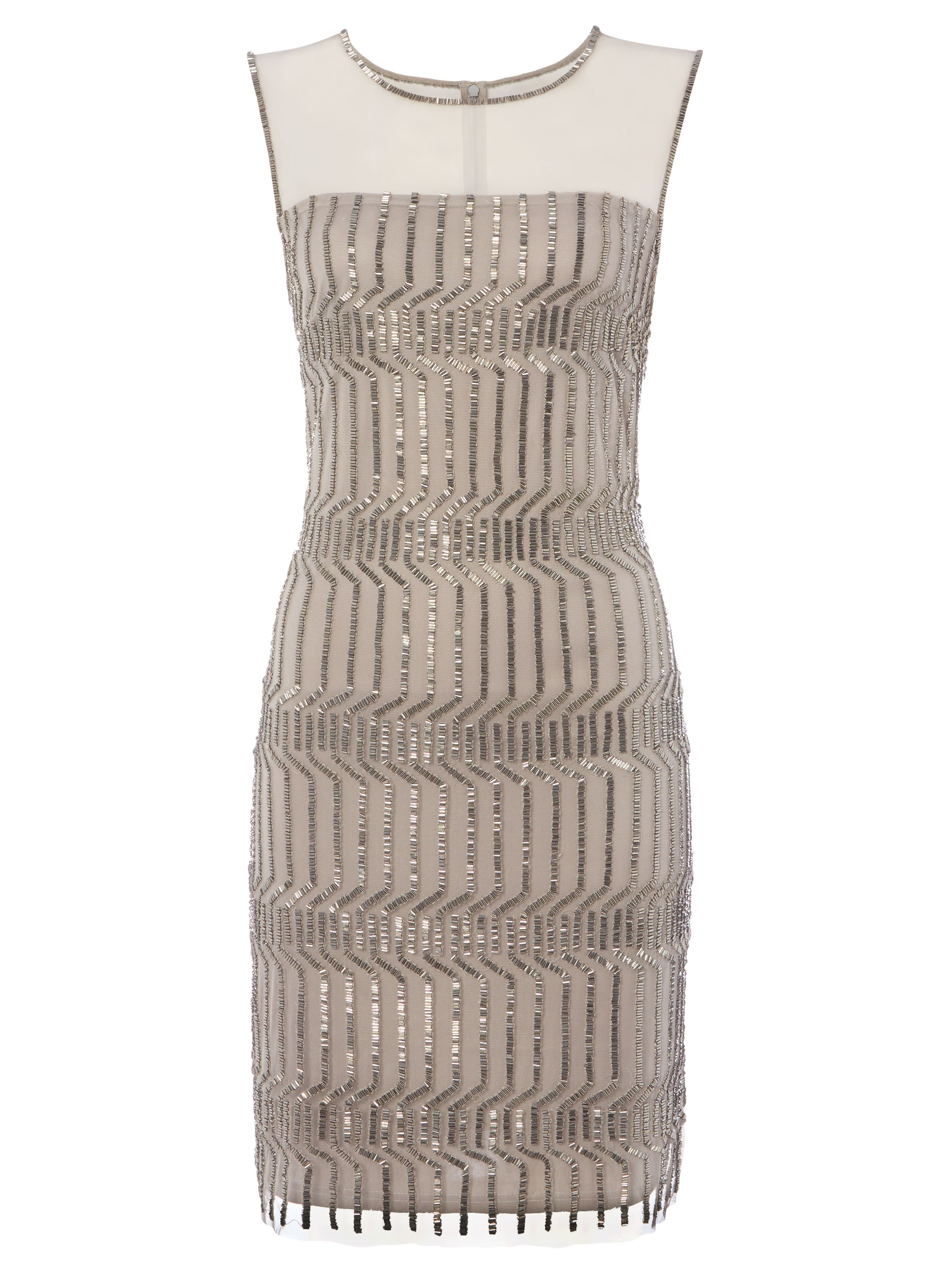 RAISHMA Geometric Dress, Silver