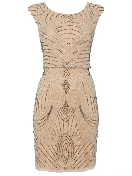 RAISHMA Nude Flapper Dress