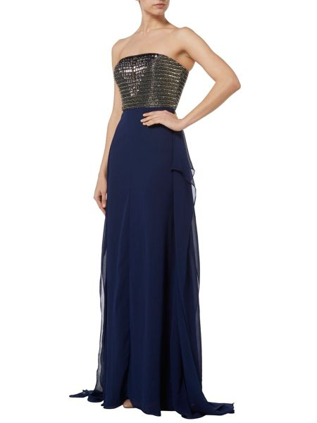 RAISHMA Navy with Mercury Embellishment Gown