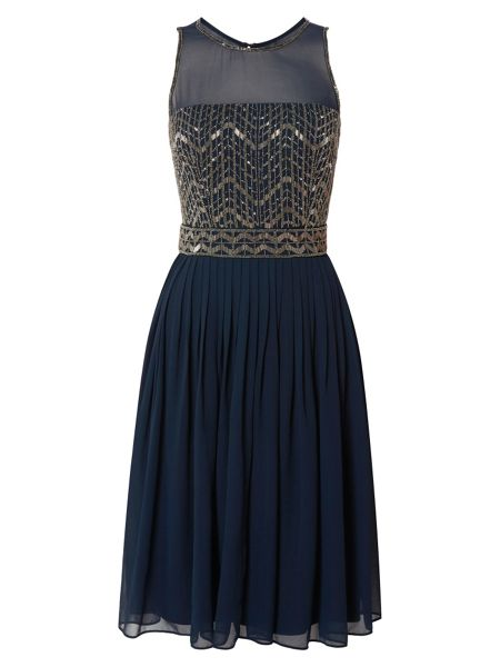 RAISHMA Chevron Embellished Dress