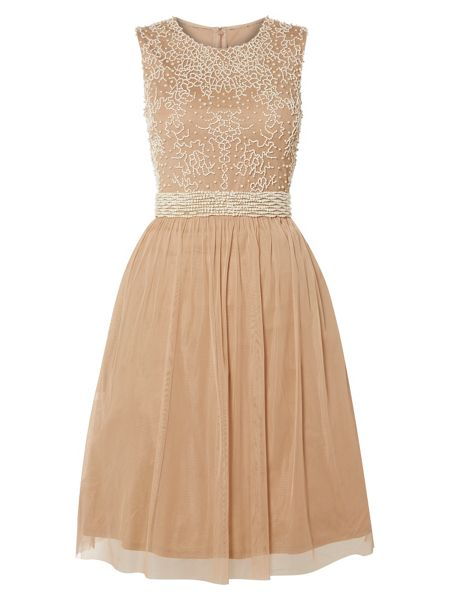RAISHMA Pearl Beaded Cocktail Dress