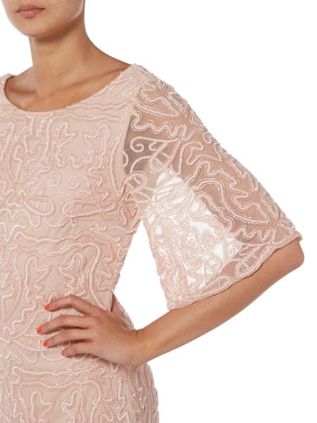 RAISHMA Bell Sleeve Embroidered Dress