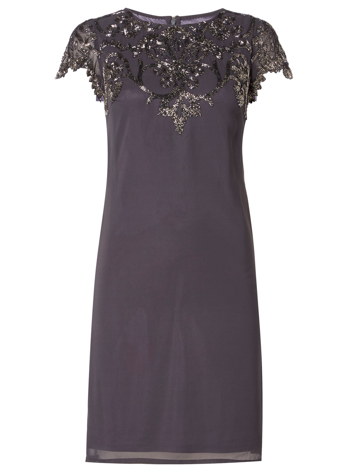 RAISHMA Charcoal Embellished Dress, Charcoal