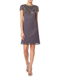 RAISHMA Charcoal Embellished Dress