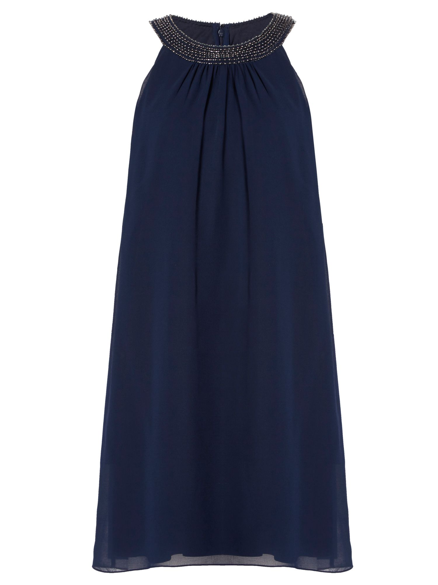 RAISHMA Embellished Collar Swing Dress, Blue