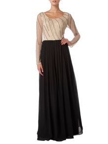 RAISHMA Embellished Top Maxi Dress