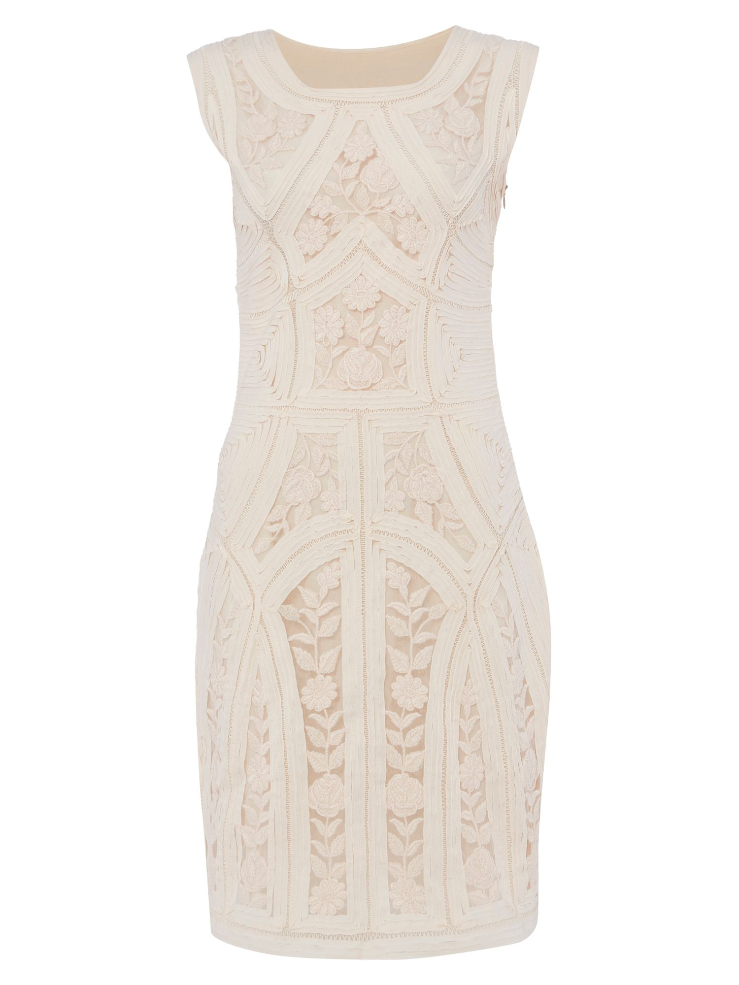 RAISHMA Lace Dress, Nude