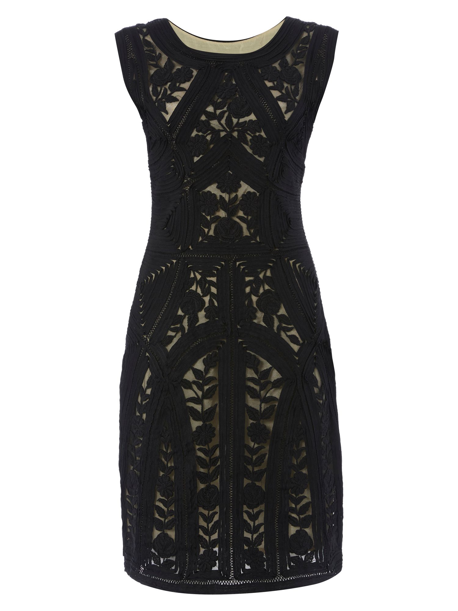 RAISHMA Lace Dress, Black