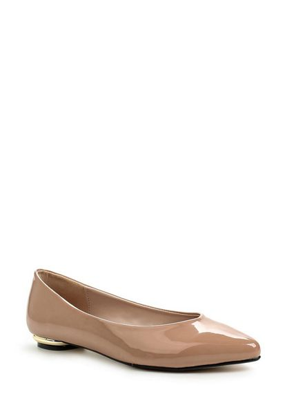 Lost Ink Brooke gold heel  ballerinas