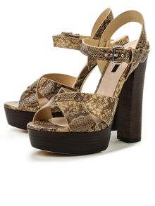 Lost Ink Roxa platform sandals