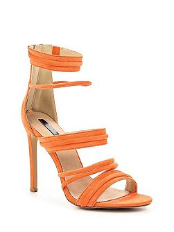 Rally strap heeled sandals