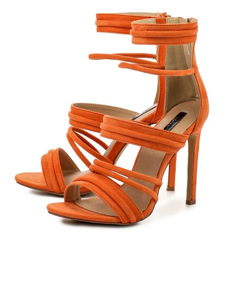 Lost Ink Rally  strap heeled sandals