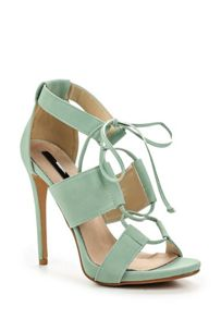 Lost Ink Roisin ghillie  heeled sandals