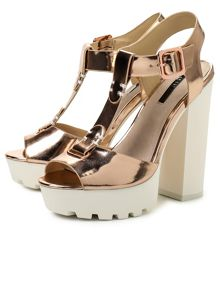 Lost Ink Rona  platform sandals
