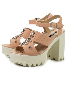 Lost Ink Reagan  jewelled  sandals