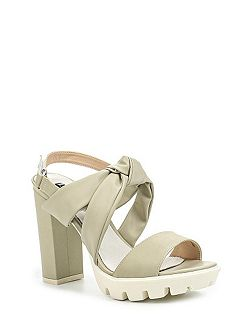 Rita bow front heeled sandals