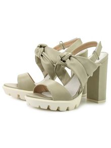 Lost Ink Rita bow front heeled sandals