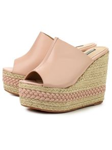 Lost Ink Roisan plait jute wedge sandals