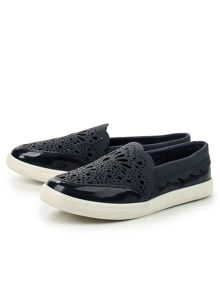Lost Ink Maris laser cut plimsolls
