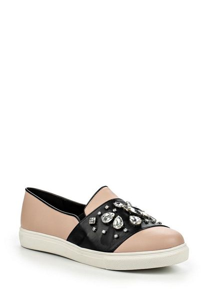 Lost Ink Micha jewel slip on plimsolls