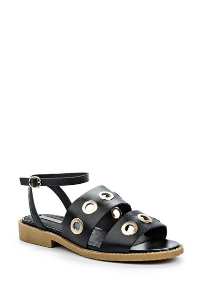 Lost Ink Neela eyelets flat sandals