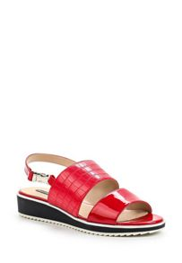 Lost Ink Nowa wedge flat sandals