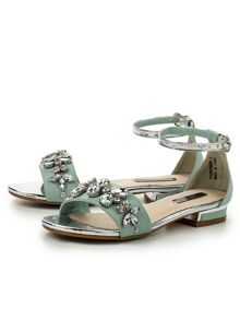 Lost Ink Niche jewel flat sandals