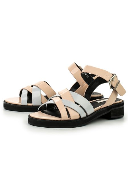 Lost Ink Nile strappy flat sandals