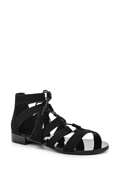 Lost Ink Nilly ghillie flat sandals