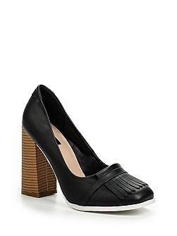 Charis heel fringed loafers