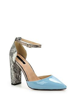 Carey d`orsay block heel courts