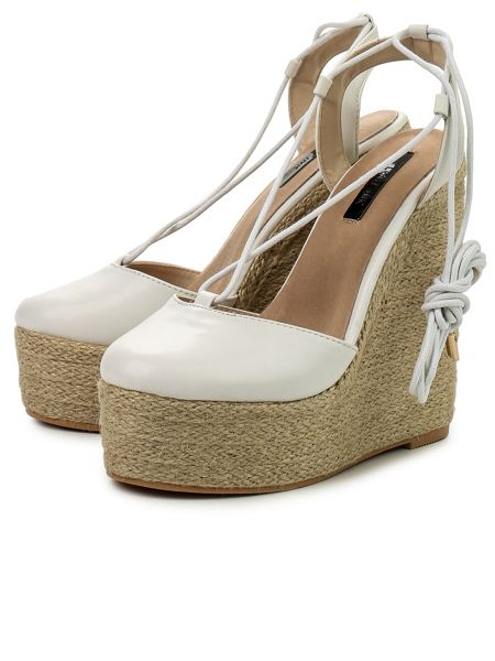 Lost Ink Cory jute wedge closed toe espadrilles