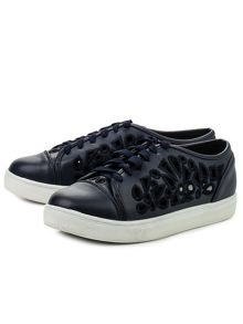 Lost Ink Steffi laser cut  plimsolls