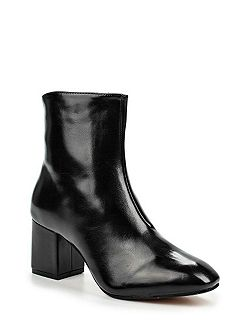 Dusty mid block heel ankle boots