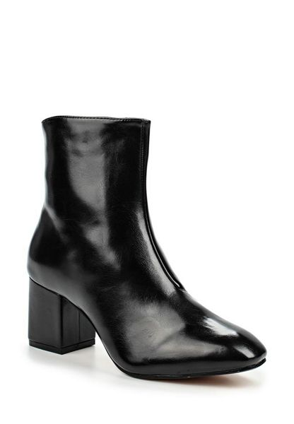 Lost Ink Dusty mid block heel ankle boots